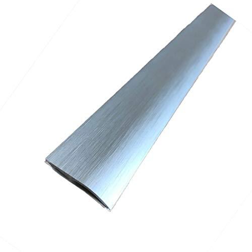 Carpet Cover 26mm x 1.86M Brushed Aluminium Self-Adhesive Threshold Door Floor Trim Transition Bar TMW Profiles (Brushed…