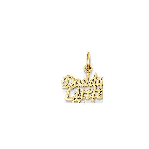 14K Yellow Gold Daddy's Little Girl Charm Pendant