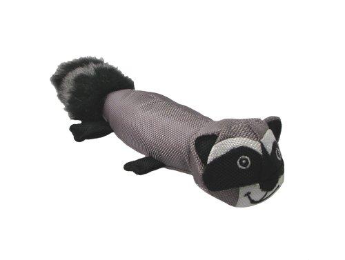 Outward Hound Kyjen  HE02188 Huck 'Em Racoon Plush Dog Toy