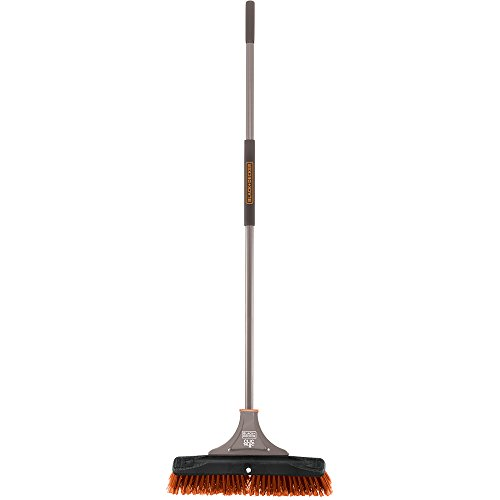 Black Broom Stiff (Black & Decker 261245 Indoor/Outdoor Push Broom, 18-Inch)