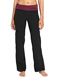 Hot Sale Exercise-Yoga Pants For Women Mid-Rise Wide-Leg Roll-Over