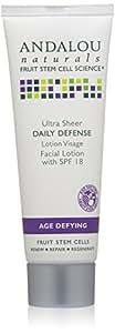 Andalou Naturals Ultra Sheer SPF 18 Daily Defense Facial Lotion, 2.7 Ounce