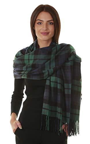 - GILBIN'S Big Winter Warm Tartan Checked Cashmere Feel Shawl Blanket Scarf 80