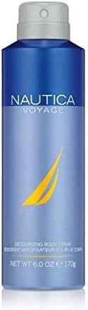 Nautica Voyage Body Spray for Men, 6 Fluid Ounces