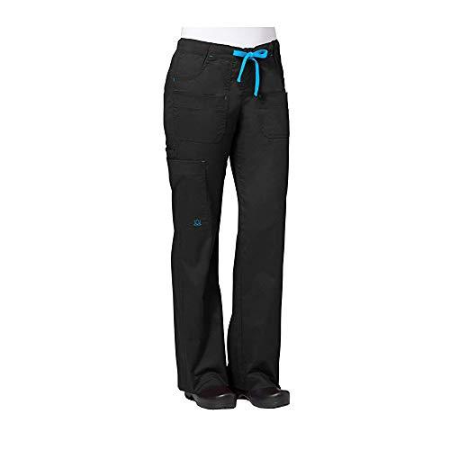 Maevn Women's Utility Cargo Pants(Black, Medium Petite)