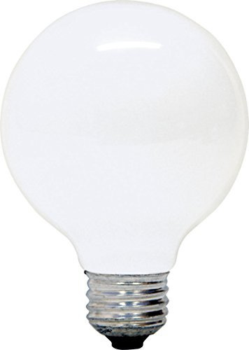 GE 12979-6 G25 Incandescent Soft White Globe Light Bulb, 40-Watt, 8-Pack - 40w Incandescent Globe