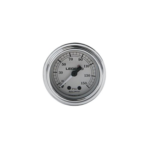 Legends Fairing Mounted LED Backlit PSI Gauge - Silver with White Face 2212-0485 by Legends