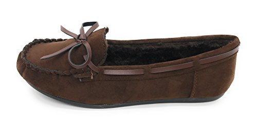 Blue Berry EASY21 Moccasin For Women and Kids With Soft Faux Suede Fur Lining Loafers Comfort Slippers (Please Order One Size UP) Brown 21 fy1GZYWHd