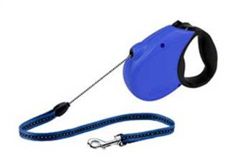 Flexi Freedom Soft Grip Retractable Cord Dog Leash, Medium, 16-Feet Long, Supports up to 44-Pound, Blue/Black, My Pet Supplies
