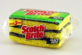 Scotch-Brite Heavy Duty Scrub Sponge (HD-3), (3pk Scotch Brite Scrub)