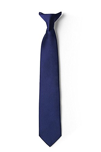 918e20937ce7 Mens Clip on Ties Solid Uniform Clip-on Neck Ties for Police and Security  Pullaway
