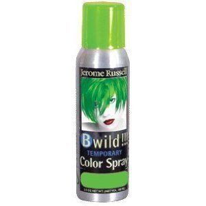 Jerome Russell B Wild Jaguar Green Temporary Hair Color Spray 3.5oz ( 2 Pack)
