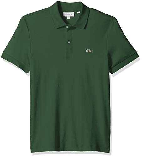 Lacoste Men's S/S PIMA Jersey Polo Interlock REG, Green, X-Large