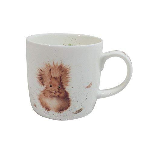 Boite de cadeau tasse mug en fine Porcelaine Tasse é cureuil 0.31l 11 fl.oz 12 x 8.5 x 8.5cm Kitchen