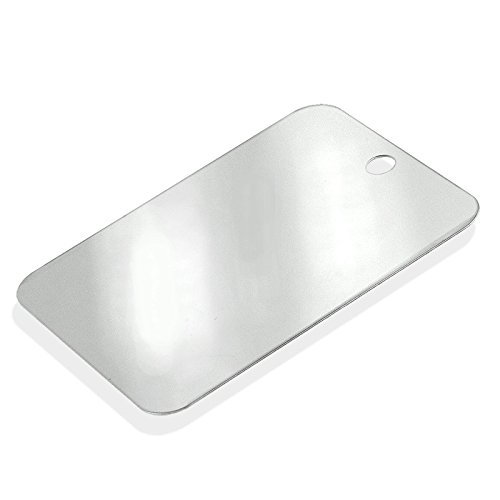 HTS Heavy-Duty Stainless Steel Camping Mirror - Personal Use, Emergency Signaling