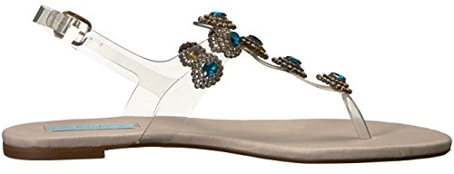 Blue by Betsey Johnson Women's SB-gabbi Flat Sandal Clear nDdUzamGL1