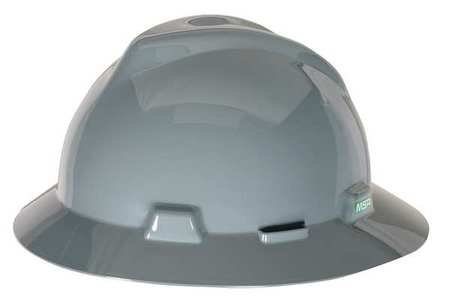 Hard Hat, FullBrim, Gray (Full Graphics Hard Hat)
