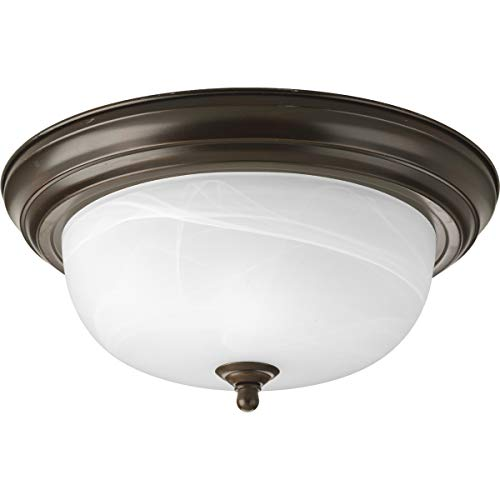 Progress Lighting P3925-20 2-Light Flushmount, Antique -