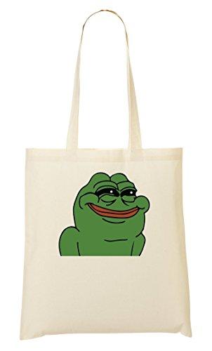 CP The Frog Smiling Badly Bolso De Mano Bolsa De La Compra