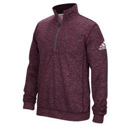 Adidas Climawarm Team Issue Mens 1/4 Zip Jacket M Maroon Heathered