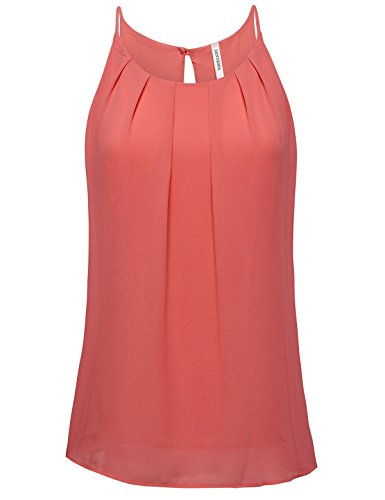 ZENNESSAs Womens Pleated Fitted Chiffon