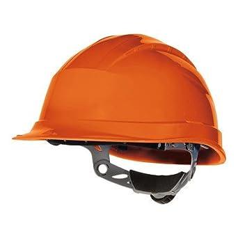 Delta plus - Casco obra polipropileno ajuste rotor naranja