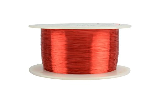 Magnetic Enamel (TEMCo 38 AWG Copper Magnet Wire - 8 oz 9631 ft 155°C Magnetic Coil Red)