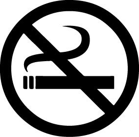 No Smoking Vinyl Decal for business and public facilities Black – Decal for Business Office and Home furniture – Wall, Windows, Door, Mirror and Laptop skin – Size 4 x - Mirror Canada Black