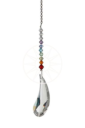 13d4e3b01 Deluxe Swarovski Hanging Crystal Suncatcher/Rainbow Maker with Rainbow  Beads & Angel Wing Crystal: Amazon.co.uk: Kitchen & Home
