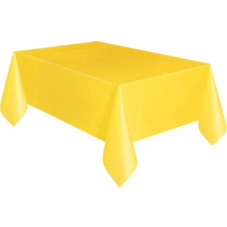 Plastic Table Cover, 108'' X 54'' (Pack of 24)