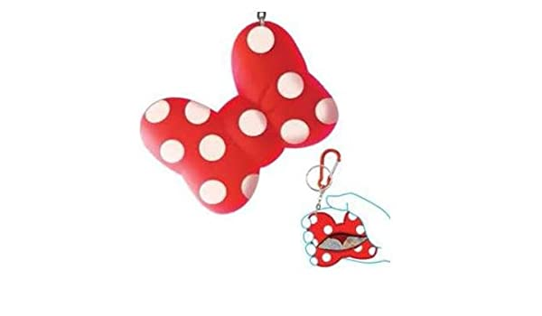 Minnie mouse lazo Coin Holder llavero llavero: Amazon.es ...