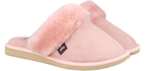 Calde Donna Da Pelliccia Rosa Pantofole Leather D'agnello Pregiate Ciabatte 100 Inverno Esclusive Rbj Comode Shoes 930 Adulto 1qT7wIt