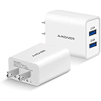 Amazon.com: Amoner Wall Charger, Upgraded 2Pack 15W 3-Port ...
