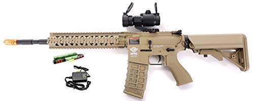 G&G CM16 R8-L Combat Machine M4 AEG Airsoft Gun (Tan), used for sale  Delivered anywhere in USA