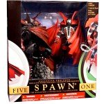 McFarlane Spawn Exclusive Collector s 2 Pack Spawn I Series1 1994 and Spawn V Series17 2000 w custom accessories