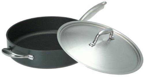 Anolon Titanium 5-Quart Covered Saute Pan with Helper Handle, Gray