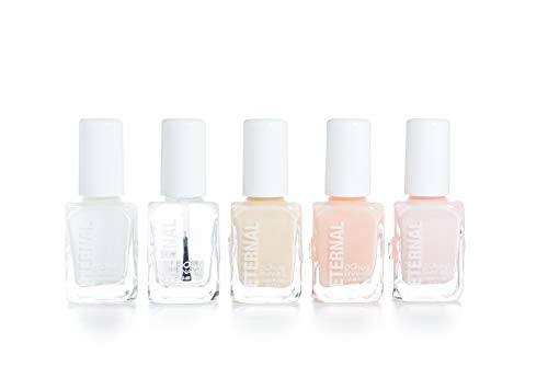 Eternal 5 Collection - 5 Pieces Set: Long Lasting, Quick Dry, Bright, Nude or Sheer Nail Polish - 0.46 Fluid Ounces (Et Voilà!) (Best French Manicure Set)