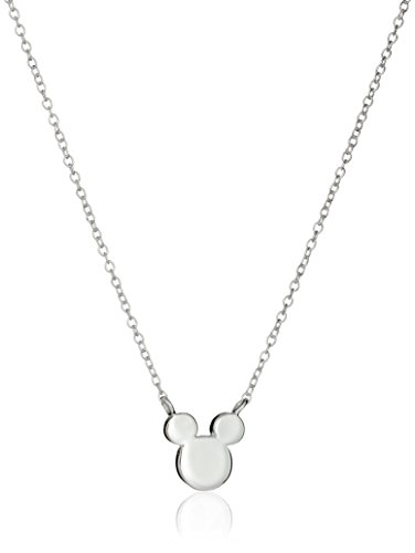 Disney Sterling Silver Mickey Mouse Silhouette Pendant Necklace, 16