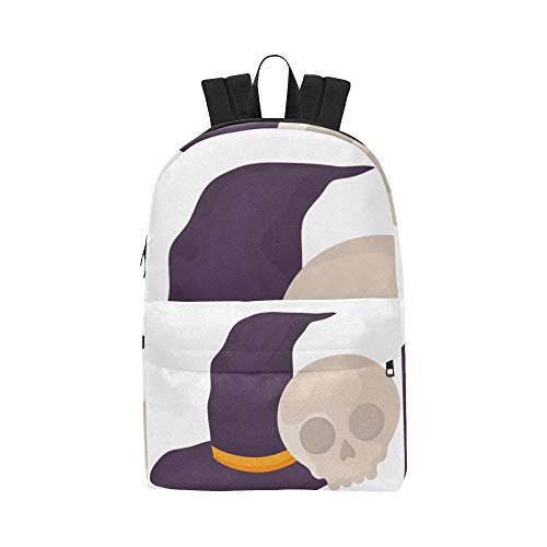 Witch Hat Design Halloween Classic Cute Waterproof Laptop Daypack Bags School College Campus Backpacks Rucksacks Bookbag For Kids Women And Men Travel With Zipper And Inner -