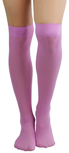 ToBeInStyle Women's Sexy Opaque Warm Knee High Long Socks Hosiery - Lavender - One Size