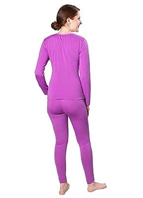 Victoria Women's Ultra-Soft Fleece Lined Thermal Top & Bottom Underwear Set