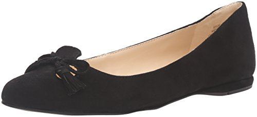 Nine West Women's Simily Suede Pointed Toe Flat Black J4Tf8g
