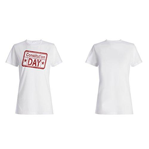 Verfassungstag lustige Briefmarkenweinlese Damen T-shirt f302f