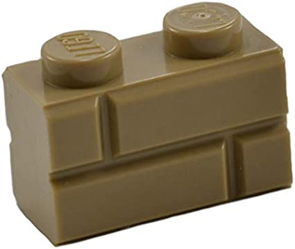LEGO Lot of 8 Dark Red 1x2 Basic Building Brick Pieces