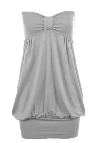 Fantasia Boutique - Camiseta sin mangas - para mujer Gris
