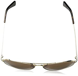 Cole Haan Men's Ch6007 Metal Aviator Sunglasses, 58 mm