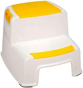 家庭用品 ステップスツール多目的2段階スツール子供ステップスツールフットスツール滑り止めスツール (Color : C)