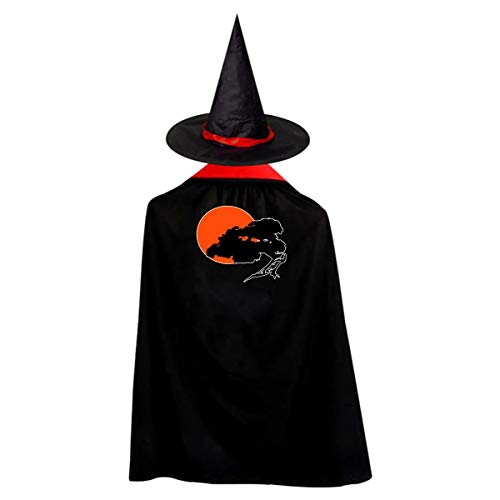 (Halloween Children Costume Bonsai Tree Wizard Witch Cloak Cape Robe And Hat)