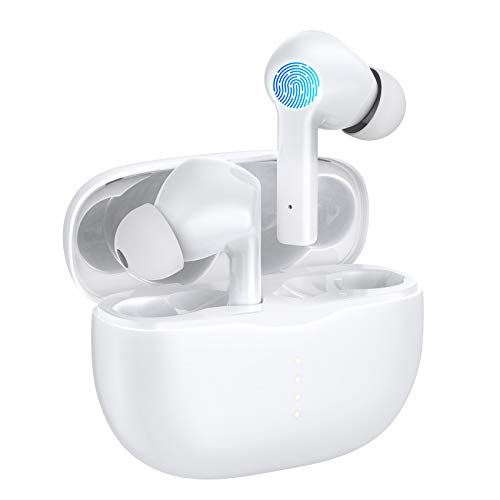Wireless Headphones, GAMURRY Bluetooth 5.0 Wireless Earbuds with Fidelity Sound,Smart Touch Control, IP67 Waterproof, 25Hrs Playtime with Type-C Stereo in-Ear Earphones Built-in Mic for Sport