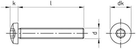 20 Stk DIN 7985 A2 M 6X40 TX30 Linsenkopfschrauben TORX EDELSTAHL V2A A2